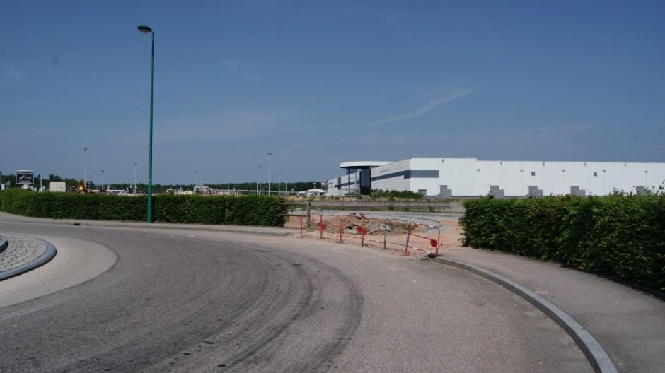 Nouveau accès routier à l'hypermarché Leclerc de Golbey.