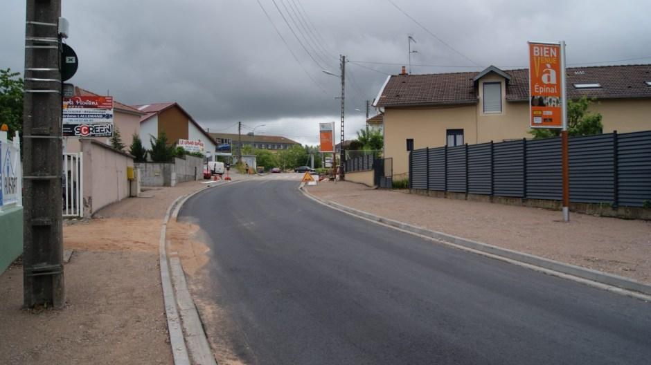 Travaux rue Général Haxo à Epinal.
