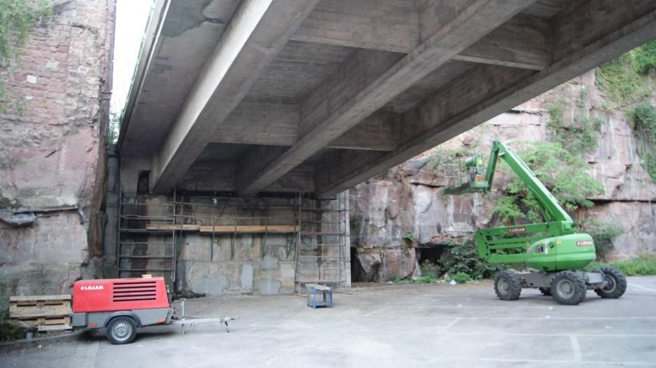 Le viaduc Carpentier en travaux.