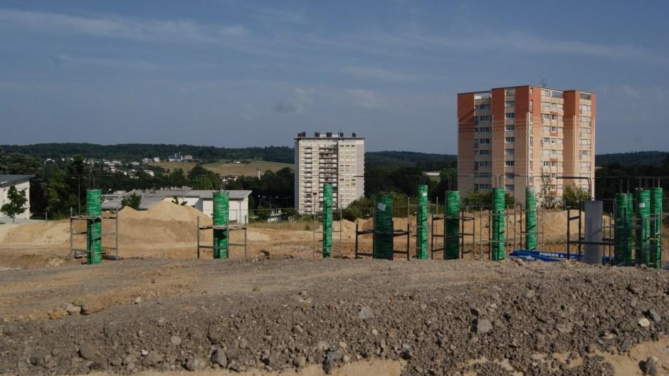 Le chantier de l'hélistation d'Epinal.