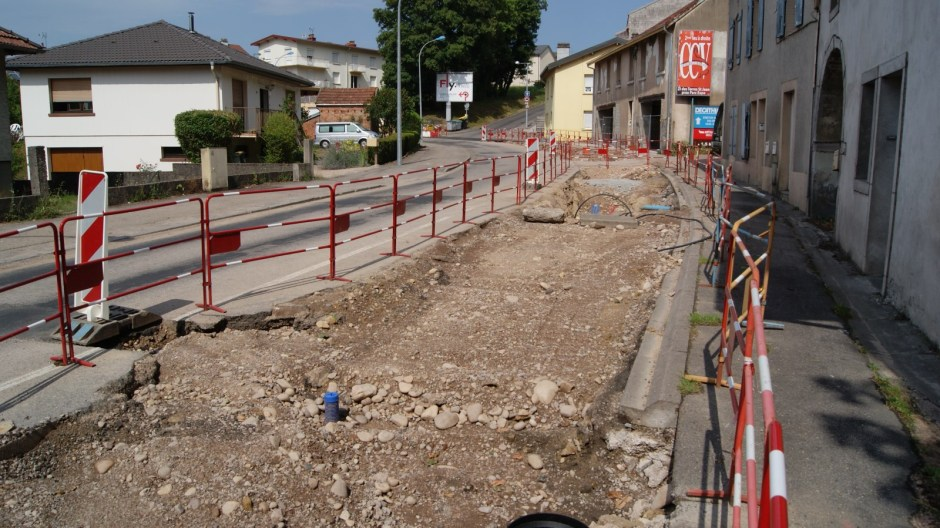 La rue Louis Barthou en travaux.