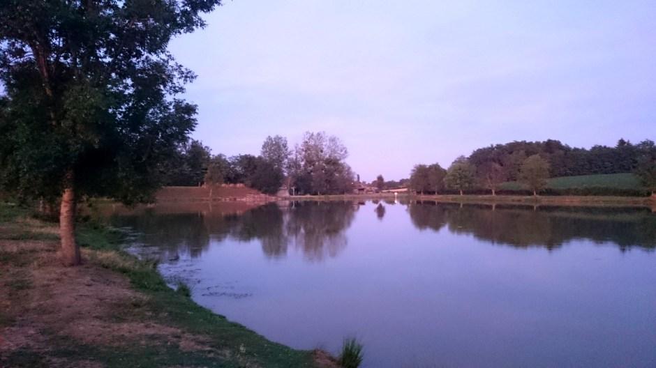 L'étang de la Chagne à Romenay.