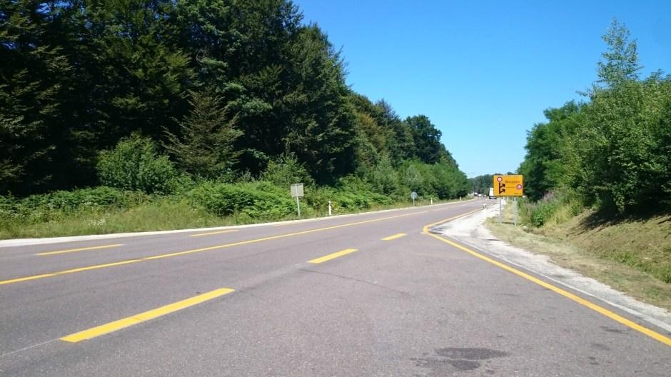 Travaux de mise à 2x2 voies de la RN 57 à Rioz.
