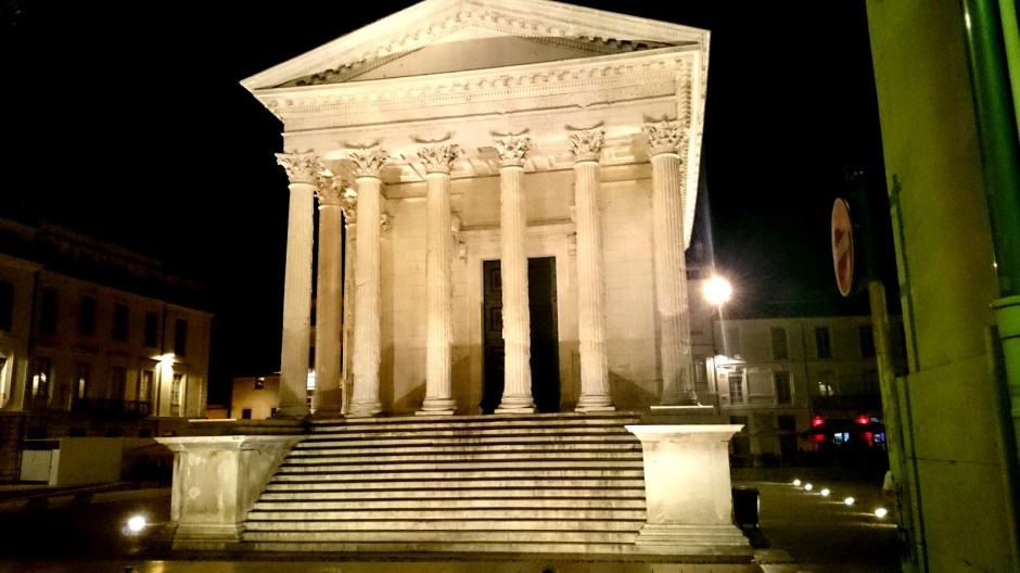 La Maison Carrée de Nîmes.