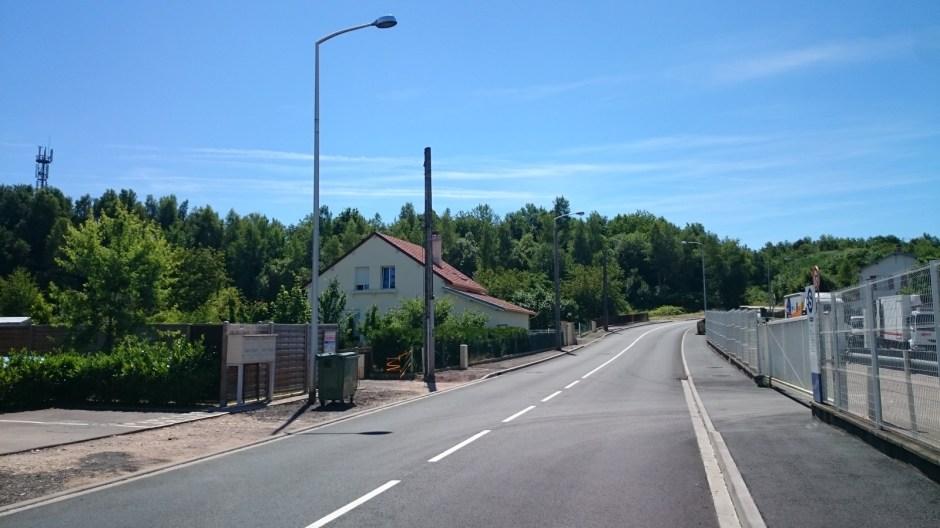 La rue de la Xay à Golbey.
