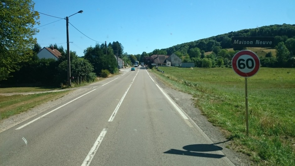 La RN 57 limitée à 80 km/h.