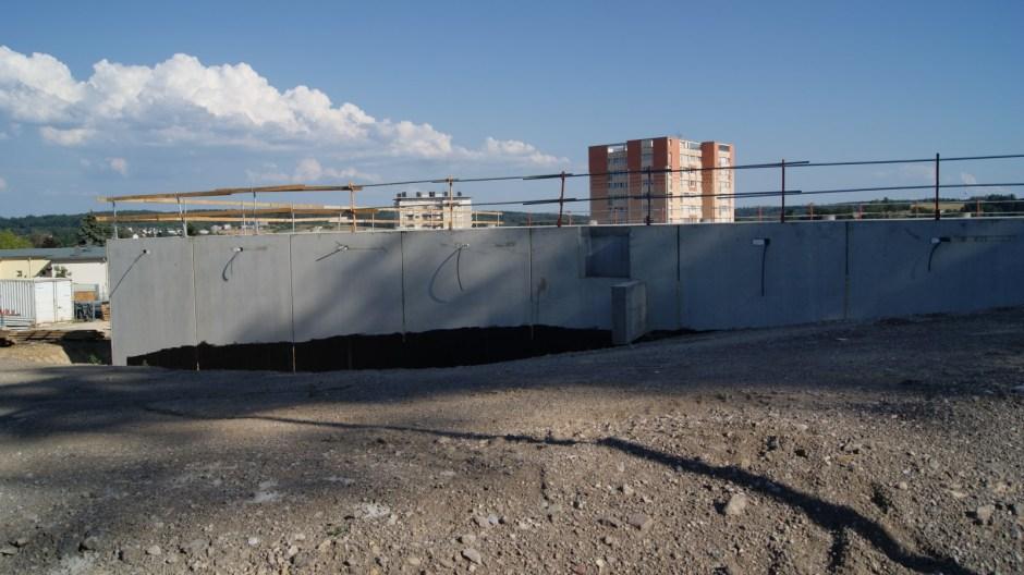 La plateforme hélistation de l'hôpital d'Epinal en chantier.
