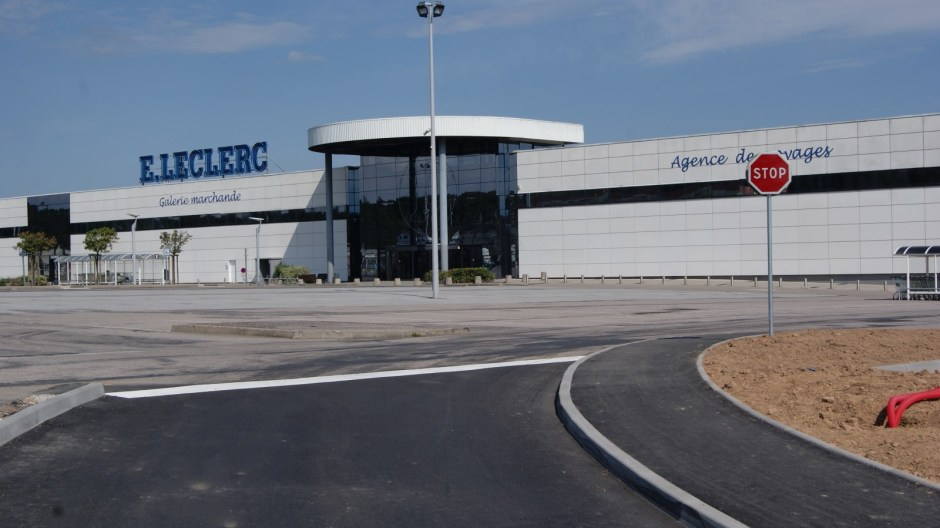 Aménagement de l'hypermarché Leclerc de Golbey.