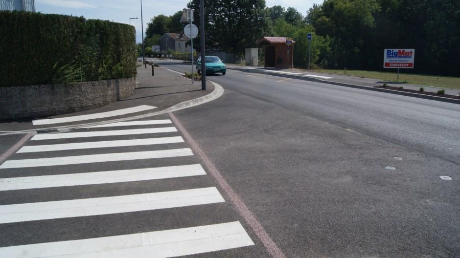 La route d'Epinal à Uxegney vient de faire peau neuve.