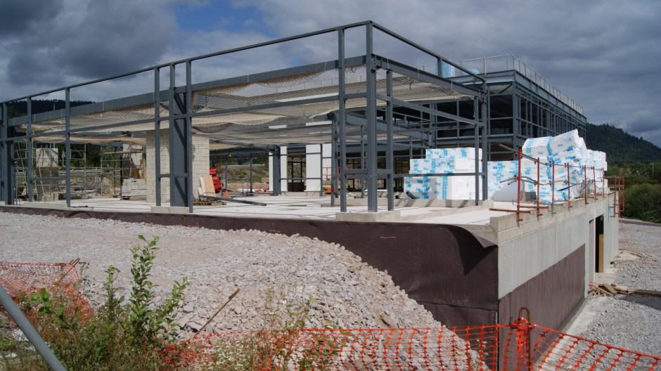 Nouveaux bâtiments en construction dans le quartier de La Filature à Remiremont.