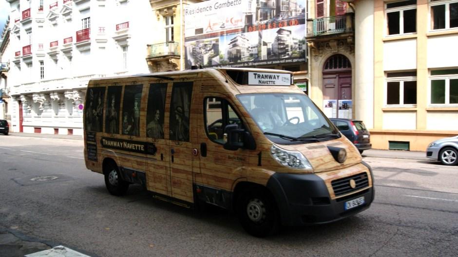 La Navette gratuite de centre ville d'Epinal.