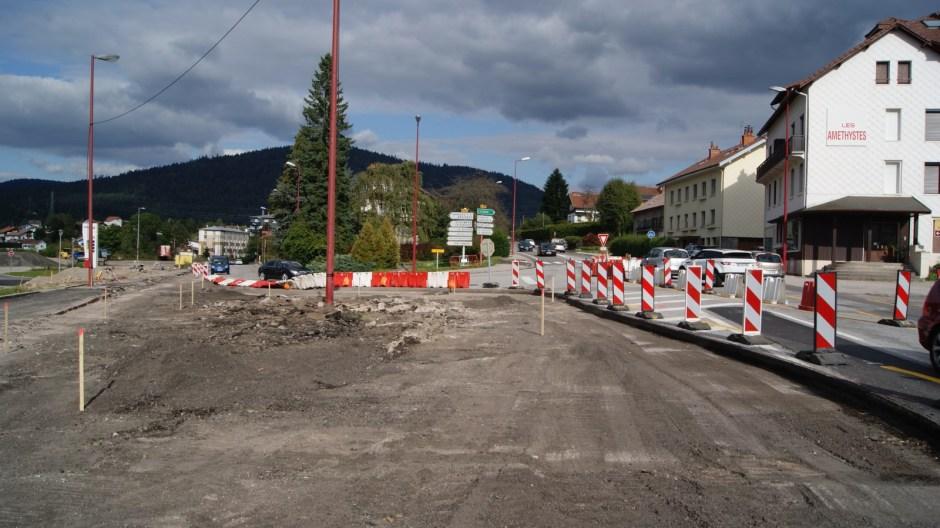 Aménagements urbains à Gérardmer.