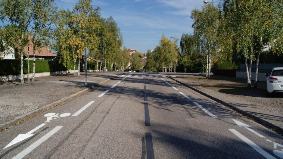 Création d'une nouvelle piste cyclable au Saut-le-Cerf.