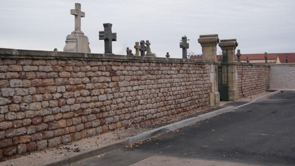 Le cimetière de Golbey.