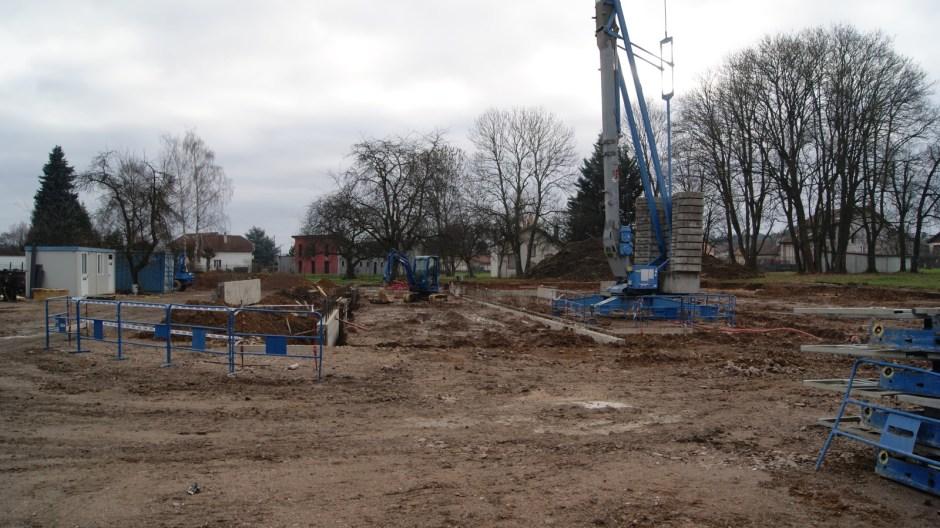 Construction de la crèche à Golbey.