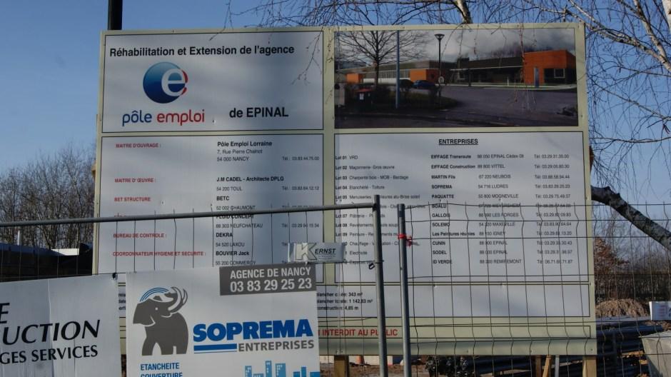 Réhabilitation du Pôle Emploi d'Epinal.
