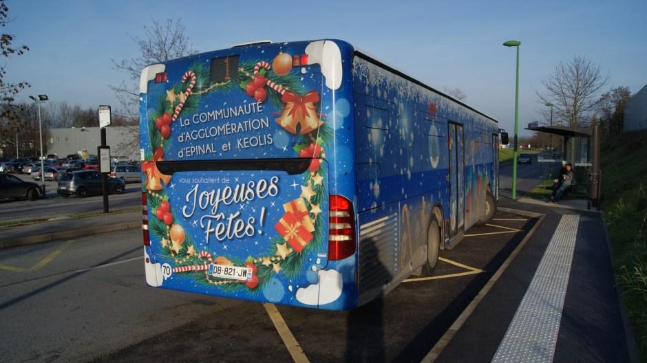Le bus de Noël 2015 de Kéolis EPINAL.