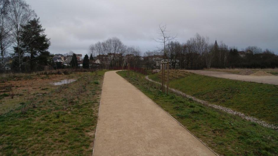Le parc de l'Arsenal à Chantraine.