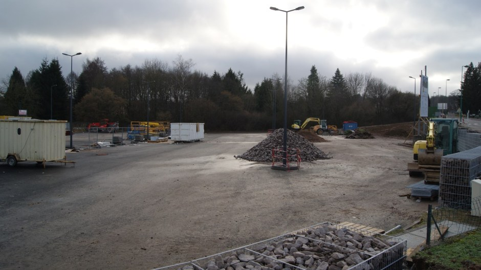 Construction d'un supermarché LIDL à Golbey.