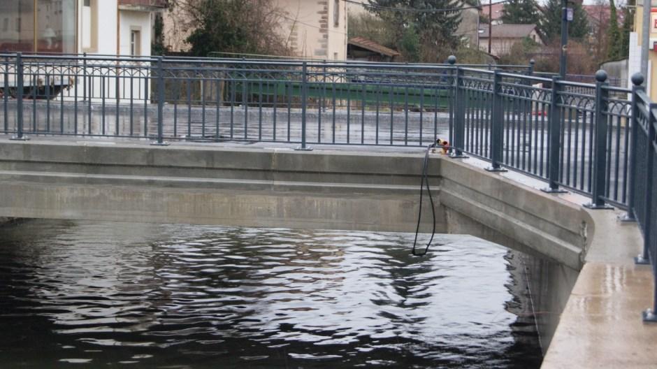 Fin des travaux sur le pont Carnot de Rambervillers.