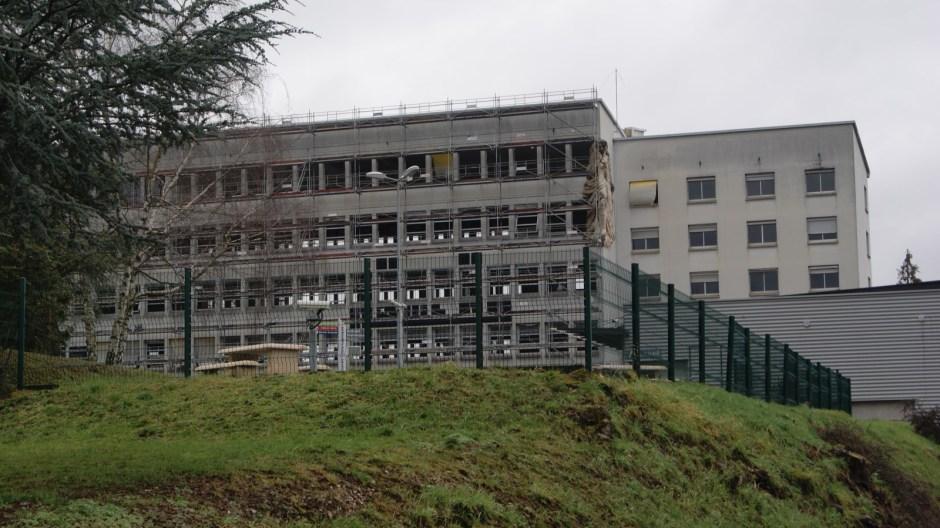 Travaux en cours au lycée Lapicque d'Epinal.