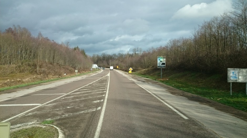 Radar automatique sur la RN57 à Luxeuil-les-Bains.