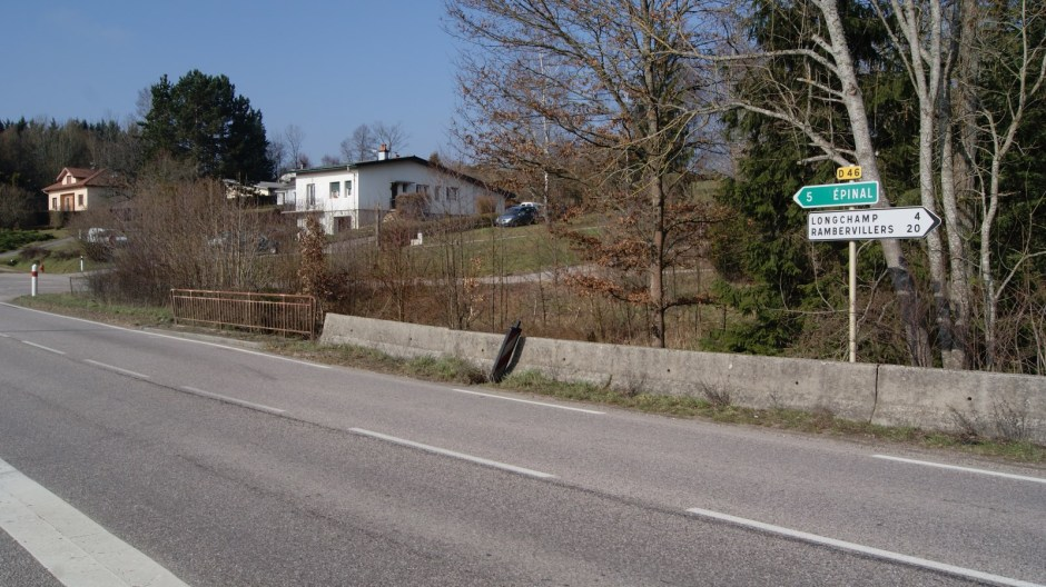 Travaux sur la RD 46 à Jeuxey.