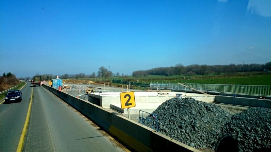 Mise à 2x2 voies sur la RN 79 / RCEA.