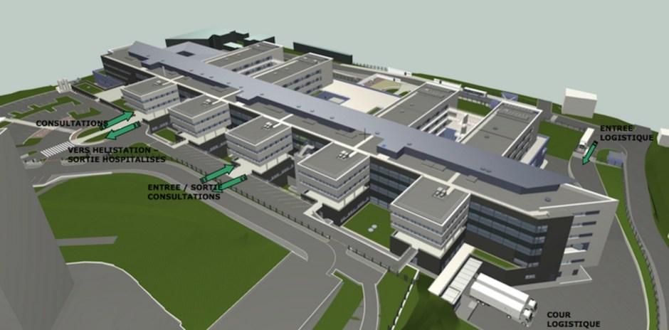 Le projet du nouvel hôpital d'Epinal.