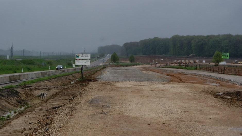 Mise à 2x2 voies de la RN57 à Rioz.
