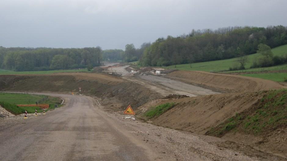 Le chantier du contournement de Saulx-de-Vesoul.