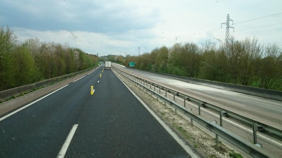 Travaux de modernisation de la RN4 à Stainville.