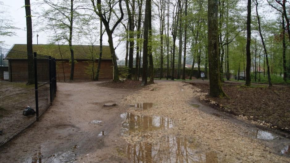 Travaux dans le parc du Château.