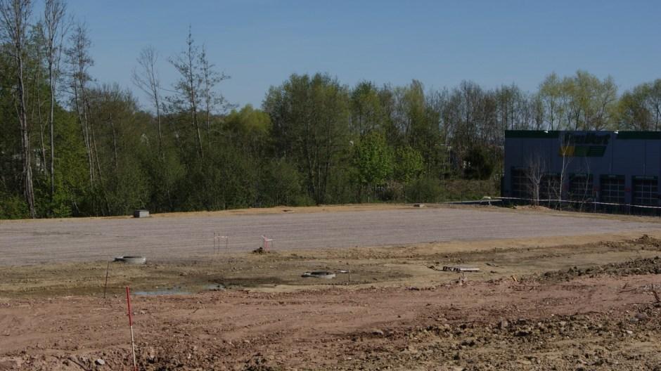 La ZAC de la Pétrolerie en travaux à Golbey.