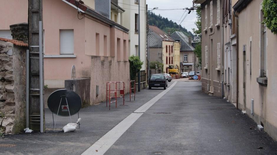 Travaux de voirie à Remiremont.