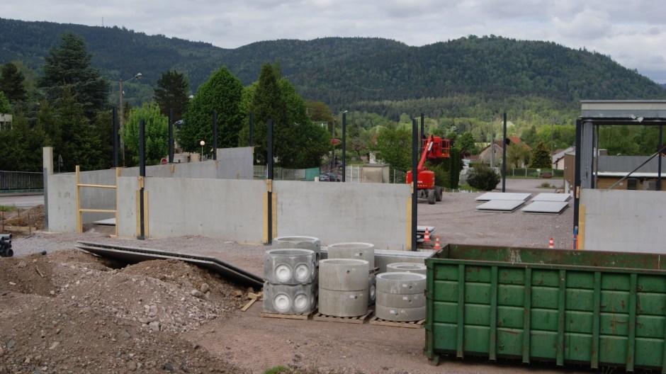 Construction d'un nouveau supermarché ALDI à Remiremont.