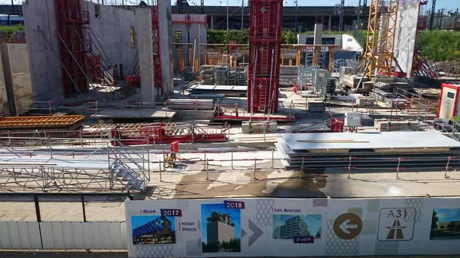 Construction du Centre des Congrès de Metz.