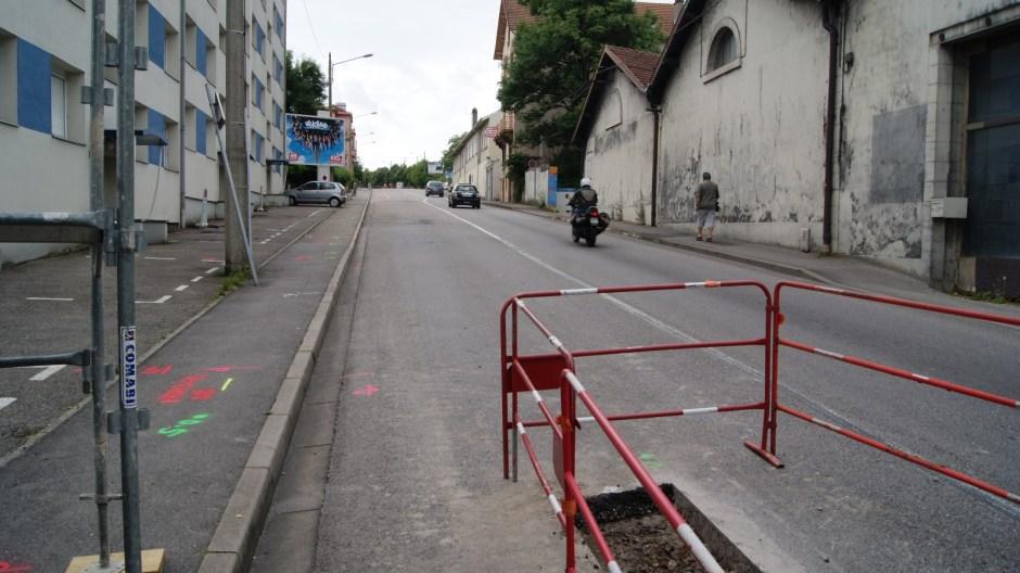 Travaux Avenue Dutac à Epinal.