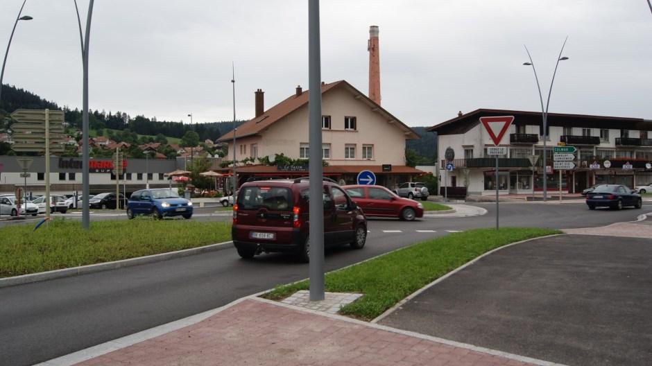 Le nouveau carrefour de la Croisette à Gérardmer.