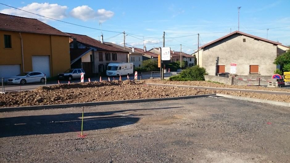 Travaux à Vomécourt sur la RD46.