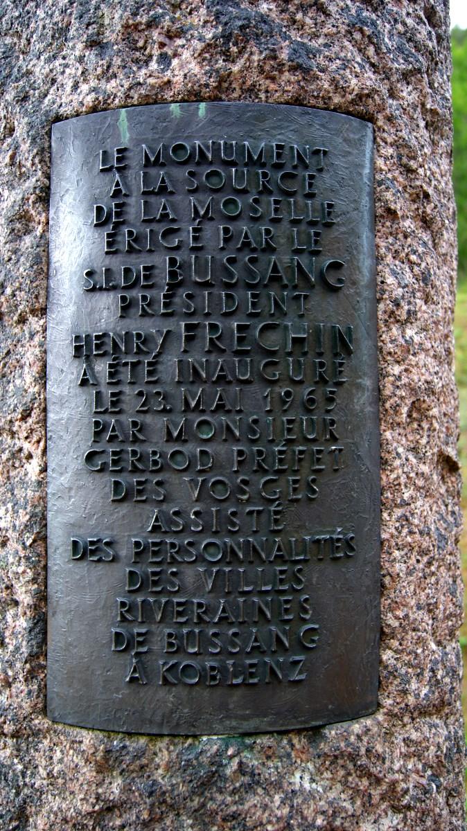 Bussang, la source de la Moselle.