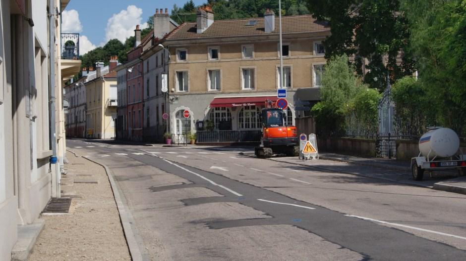 Travaux rue Aristide Briand à Epinal.