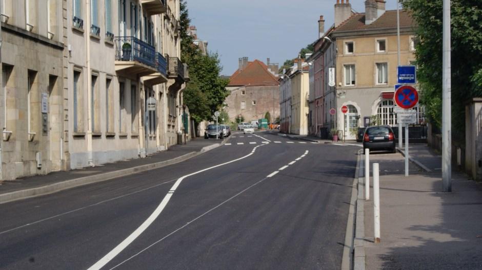 Travaux rue Aristide Briand.
