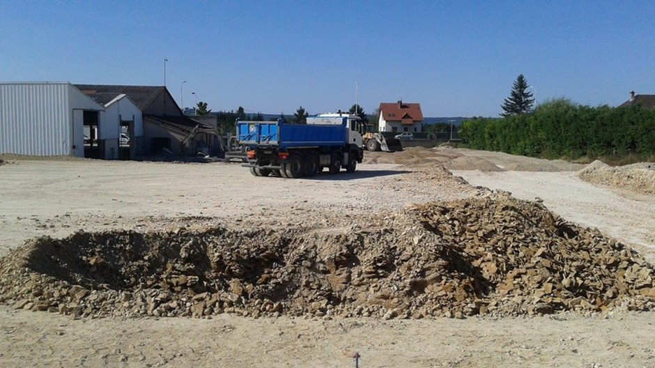 Construction du supermarché LIDL de Neufchateau.