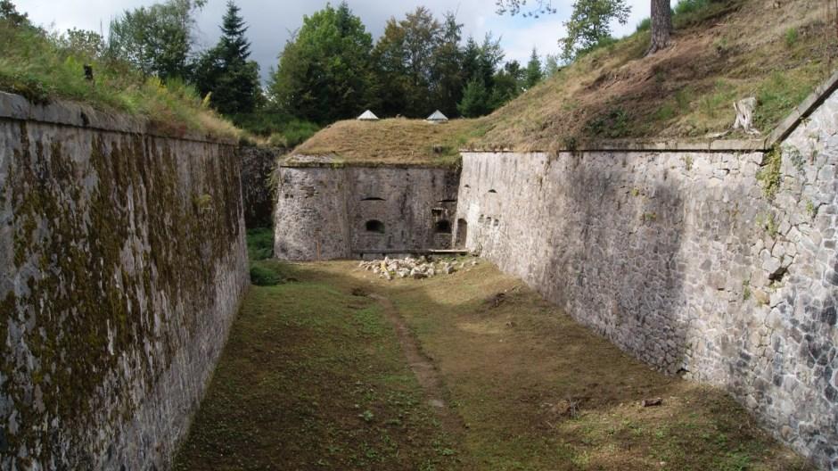 L'ancien fort militaire du Parmont à Remiremont.