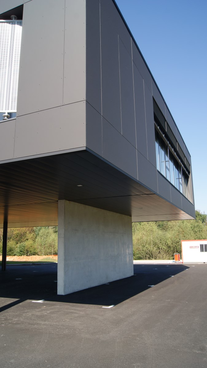 Construction du nouveau siège d'In Extenso à Epinal.