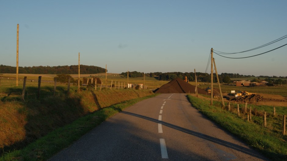 Travaux sur la RD165 à Bégnécourt.