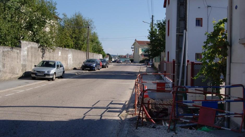 Travaux d'enfouissement rue de Domèvre à Golbey.
