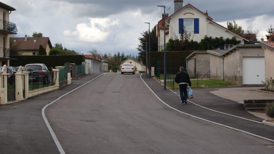La rue Jean Mermoz refaite à neuf à Golbey.