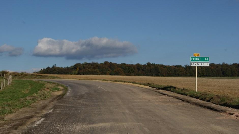 Aménagements en cours sur la RD 165 à Bégnécourt.